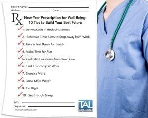 New Year Career Prescription Resolution Goals Tal Healthcare